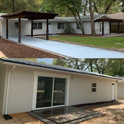 main house top, guest house bottom