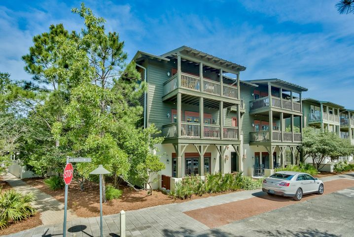 Best priced 2 bedroom, 2 bath condo in Rosemary Beach!   Located in a coveted area overlooking St. Augustine Park, this single level unit is just a short walk to the Rosemary Beach Property Owner's Club which features an incredible private pool, club room, outdoor lounge space, and cabanas. This spacious unit is located on the 2nd floor with elevator, and ample parking in front and back.  A fully furnished, open living floor plan featuring Santa Cecilia granite kitchen countertops, pine flooring throughout, ceramic tile flooring in the bathrooms, stainless steel appliances and a full size stacked washer and dryer.  This property is an excellent choice for a quick getaway or as a rental investment.  Owner has rental history for previous four years. Rosemary Beach is one of the most highly sought-after communities along 30A, with beautiful West Indies styled architecture, world-class amenities, shopping and dining. Breathtaking emerald green waters of the Gulf of Mexico and sugar white beaches await you!