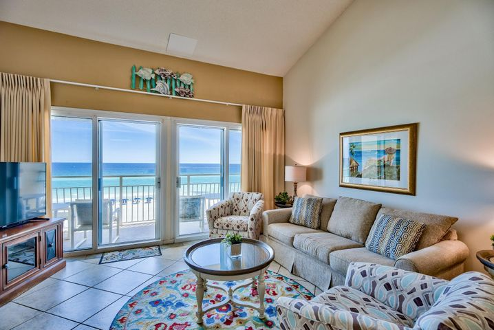 "Incredible opportunity to own a fantastic updated unit at Crystal Sands - a quiet, low-density development located directly on the Gulf of Mexico on historic Scenic 98 near many conveniences. This is a fully furnished 2-level, 2-bedroom unit with updated tile floors in the main living areas, fresh paint, incredible new kitchen, flat screen TVs and updated decor in the living area. The kitchen will surely impress with elegant granite countertops, new cabinets, contemporary glass subway tile backsplash & new appliances. Capture breathtaking views of the emerald green waters of the Gulf of Mexico from the large sliding glass doors. Great private balcony off the living area, which is the perfect place to relax, listen to waves, entertain or enjoy outdoor dining. Coastal living at its finest! This is a unique two story condo and the lower level features an open floor plan and vaulted ceilings for a spacious feel. There is a welcoming living area with breathtaking views of the Gulf, new sleeper sofa, chair, table, new lamps and a flat screen TV. Access the private balcony from the living area. This floor plan is great for entertaining with an open kitchen and dining area & breakfast bar for more casual dining. The master bedroom is located on the lower level for convenience and offers a king bed, flat screen TV and ensuite bathroom with tile floors and shower/tub combo. The upper level is lofted with a guest bedroom with a queen bed & en-suite bathroom. There is also a bonus room that is currently being used for storage but can easily convert to an additional sleeping space with twin beds. This could be also be great for a play area or ""kid's room."" This is income producing and a great investment!  Crystal Sands consists of two Gulf front 3-story condominium buildings in the popular Crystal Beach area of Destin. Unit #310A is located on the top floor in the West building. Building amenities include two pools (one heated seasonally), beachside grilling area, gated beach access & private boardwalk with an outdoor shower. Seasonal beach service is available with umbrella & chair rentals, along with kayaks and paddle boards. ResortQuest by Wyndham is the on-site rental company so you can conveniently check-in with no hassle. Walk or ride bikes along Scenic 98 and dine at nearby local favorites Camille's and 790 on the Gulf. Also very close to Destin Commons - can even access by golf cart. Crystal Sands is one of those special places that you want to keep to yourself yet can't stop talking about. Start living the Crystal Beach lifestyle today!"