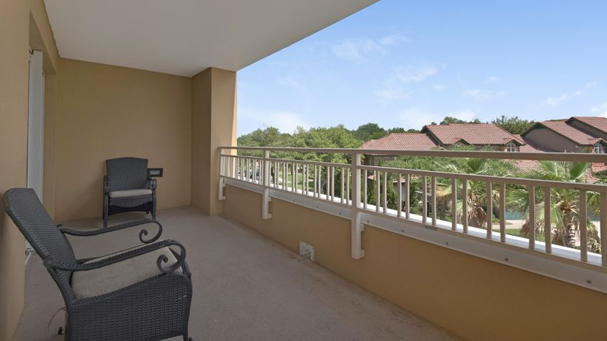 This beautifully decorated 2nd floor NE corner condo features a large wrap around balcony and rare 1BR/1.5BA configuration. Step directly out the doors onto a spacious wrap around balcony with a table and chairs, perfect for enjoying your morning coffee. Indulge yourself in the surrounding views of the neighborhood of Tivoli and a partial view of the Gulf of Mexico. The fully-equipped kitchen features everything you need to make that perfect meal to enjoy on the balcony or in the dining area. The master suite features a king-sized bed and an attached bathroom with a shower/tub combo. The living room highlights fantastic space with a Queen-size sofa bed. There's also a half bath for guests to use next to the living room. Luau at Sandestin Resort is only a short walk to the beach and features a large lagoon-style heated pool and grilling area, top floor sundeck and fitness center.