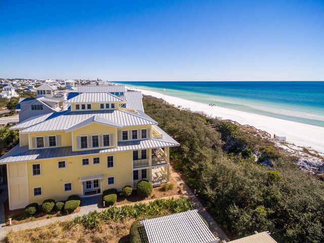 This beachside town home is your perfect getaway! Located Gulf Front within the Beach District of Watercolor, this two story, three bedroom, 3.5 bathroom unit is the perfect home away from home and situated in one of the best locations on 30A. The unit has over $110,000 of rental income already on the books for 2019 and we are early in the Season!  Convenience is all around you at Beachside #20 as it is ideally located between the beach access, private Beachside Pool and walking distance to everything located in Watercolor and Seaside!! This home boasts two king master suites, one bedroom with twin bunks/trundle, single bed with trundle and a pull out bed located in the sleeper sofa. Enjoy early morning cup of coffee or night cap on the balcony where you can watch the amazing Sunsets! The coastal decorated living area is located on the upper level, with ample plush seating for everyone in stunning professionally designed interiors. Enjoy cooking in the fully equipped kitchen and sitting around the large dining table or eating breakfast at the kitchen bar while enjoying all the views. Access to the Private Beachside Pool is located next to the unit, directly across the side entrance, also enjoy walking to Seaside! This Beachside Unit not only is within the heart of Watercolor, walking distance to everything it also boarders Seaside, you'll receive the best of both worlds!
