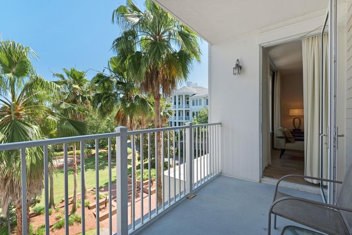 This one bedroom one bath A rated rental unit at Elation in Sandestin offers beautiful views of the Grand Garden! Interior features include porcelain plank tile throughout, granite countertops, double vanities in the master bath, private balcony and washer /dryer. Updated in 2018 with fresh paint, new sleeper sofa, coffee table, TV Stand, 30'' flat screen TV and dresser in the master. Perfect location just next to all of  the shopping, dining and fun night life in the pedestrian Village of Baytowne Wharf. Elation owners have access to the private Solstice Club, an amenity for owners and their guests, featuring grills, screened porch with gas fireplace, indoor bar and  flat screen TV. Sandestin Resort boasts sugar-white sand beach, championship golf courses, world-class tennis courts, marina, water sports, fitness center and spa, conference center and ballroom. It also offers a pedestrian village featuring a host of boutique shops, casual and fine dining restaurants, nightclubs and much more!