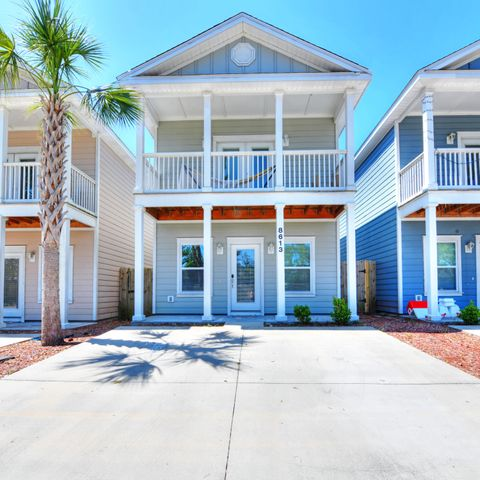 Beautiful Florida cottage in a gated community, close to the beach and the Navy base.  Community has a pool and this home sits on a quiet non-thru street.    Master bedroom is on the first floor, kitchen is equipped with all stainless steel appliances and carrera marble countertops.