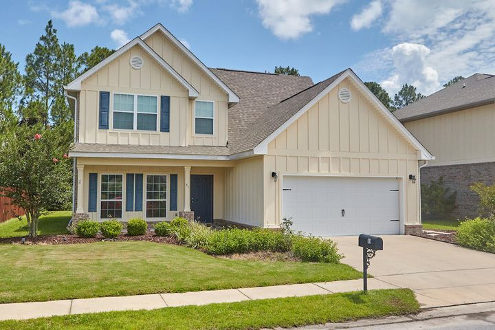 Built in 2014, this spacious 3 bedroom 2.5 bath home has a bonus room and family friendly design. The open concept kitchen and living area includes granite counter tops, beautiful cabinets and stainless steel appliances. There are hardwood floors throughout the living space. Conveniently located in the desirable community of Whispering Lakes of Santa Rosa Beach. Tucked away from the activity but close to the beach, grocery store, retail stores, movie theater and restaurants. Move-in ready!