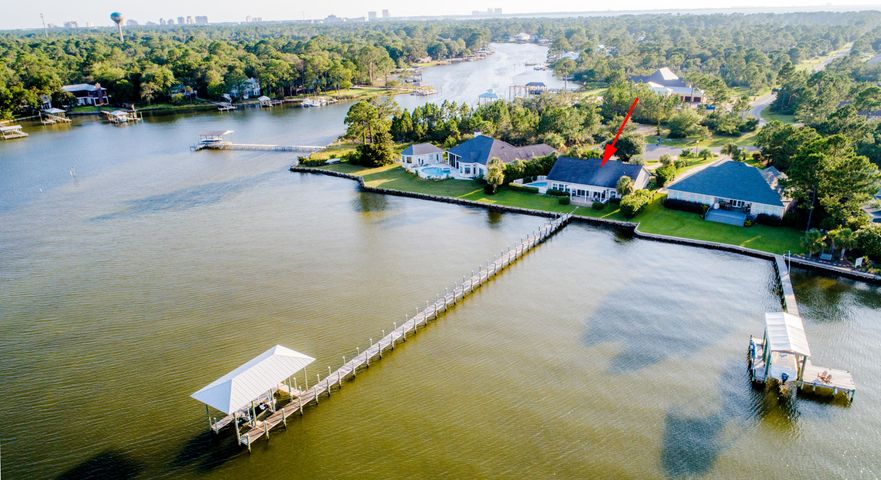 Long dock grandfathered to deeper water with boat slip and lift