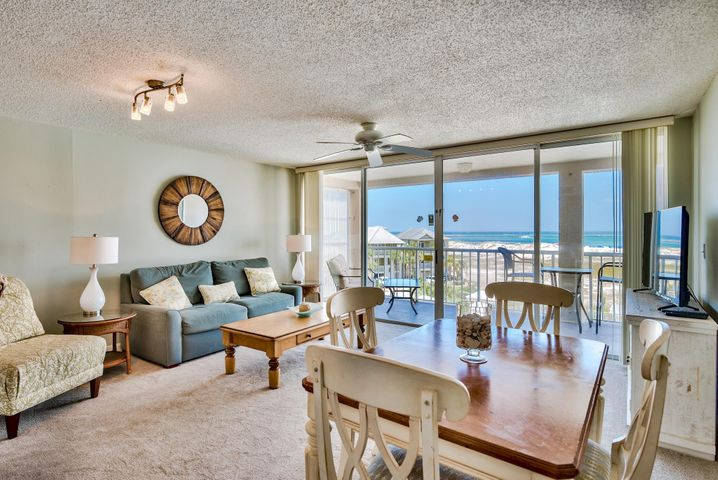 Excellent views of the Destin East Pass, Gulf of Mexico and Crab Island from this 4th floor condo at Magnolia House located in the gated island community of Destin Pointe. The large balcony affords spectacular views of the beach, water and some rather amazing sunsets. The bedroom features a king size bed, flat screen TV, & access to a private lanai. The living space is an open concept with the kitchen, dining and living area all enjoying views of the water. This property is an ideal 2nd home or investment property with $30,000/year in rental income. Destin Pointe is a private, gated island community located in the heart of Destin's harbor district. It features 24 hour security, 3,000' of deeded beach access, two lakes... shuttle service to and from the beach, two pools, two tennis courts, access to the East Pass with snorkeling and fishing as well as close proximity to the world class restaurants, boating, shopping and entertainment Destin has to offer!