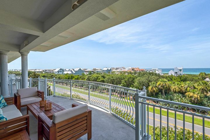 Overlooking Paradise By The Sea and  the beautiful Emerald Coast waters on 30A, this 30A Gem has million dollar views from Top floor expansive balcony! This  luxury 3BR/ 3BA  fully furnished/renovated by 13HubLane interiors on highly sought after 30A with pristine views of the Gulf of Mexico situated between Rosemary and Alys Beaches.  Alexander at Palm Court is just steps from the Seacrest private beach access through Sunset Beach, Seacrest 12,000 sq ft pool, Rosemary Town Center, Alys Beach's Town Center, as well as the delicious award-winning restaurants and fine shops.  Enjoy sunsets and Fourth of July fireworks on the partially covered, expansive balcony that reaches out toward the Gulf. The owners spared no expense in the renovation, and it has not been used as a rental since 2016! Alexander 404  features a large living space with 12 ft ceilings that is open to the spacious exquisitely updated kitchen, which is great for family gatherings and entertaining.  The kitchen has new stainless steel appliances, high-end finishes, wine refrigerator and has plenty of cabinets with pantry spaces.The Master Suite has expansive views with private sitting area leading out to sprawling balcony adorned with teak sofa to enjoy your favorite beverage and gaze at the Gulf. Master also has jetted bath with private shower.  Walk in closet and plenty of closet spaces throughout what is sure to be your next 2nd home or investment vacation rental. The bedroom retreats have new carpeting and remainder of condo has new soundproof porcelain tile throughout with all new lighting and designer furnishings.  Both guests bedrooms with fabulously updated tile to ceiling baths.  Large hall closet can be used exclusively as an owners closet, if you desire to use this property as a short term rental.  All four TV's and cable equipment will remain, ready for wi-fi/high speed internet. New high efficiency Carrier HVAC unit with wireless thermostat/remote programming was installed in 2017. There i