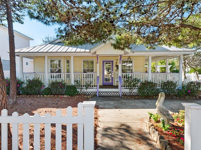 What A Cute, Cute Cottage Next To The Community Pool. Only 2 Houses In Clipper Cove Can Say That! Outdoor Entertaining Area & Expansive Covered Porches Are Awesome. Home Has Been Lovingly Cared For & Maintained. Raised Ceilings In LR Gives Open Look. Beautifully Designed Kitchen w/ Granite Open To Living & Dining Areas. Tile Floors In LR, Kitchen, & Baths with Laminate Wood Flooring in BR's. No Carpet! Tastefully Decorated Throughout Home For Vacation Rental Market But This Would Make A Great Primary or 2nd Home. Home Being Sold Fully Furnished. Nice Sized MBR & Master Bath. Two Additional BR's & Another Full Bathroom. Expansive Porches On 2 Sides Of Home. Large Outdoor Storage Closet. Brick Paver Outdoor Patio w/ Grilling Area Overlooking Pool. You Must See This Home, Call Today!!