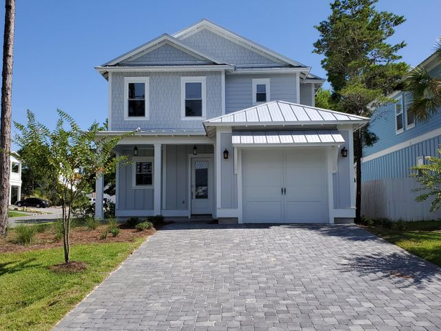 Brand new construction! This gorgeous home is located in the Villas of Frangista with easy access to the beach. Wonderful location in Miramar Beach, close to Destin and 30A.  Master bedroom located on first level with his and hers closets, while three additional bedrooms are on the second level. Eat in kitchen boasts a large island and a huge pantry. TONS of storage closets, vinyl flooring, granite counter tops, and Samsung appliances. Move in ready at a fantastic price! Buyer to verify all dimensions.