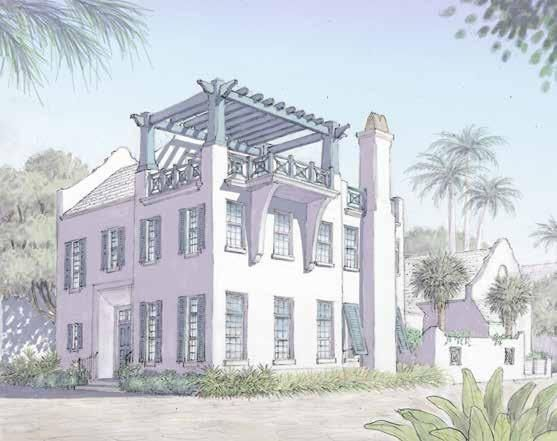 Exquisite new home located on a corner lot designed by T.S. Adams Studio, Architects. Entered for comp purposes.