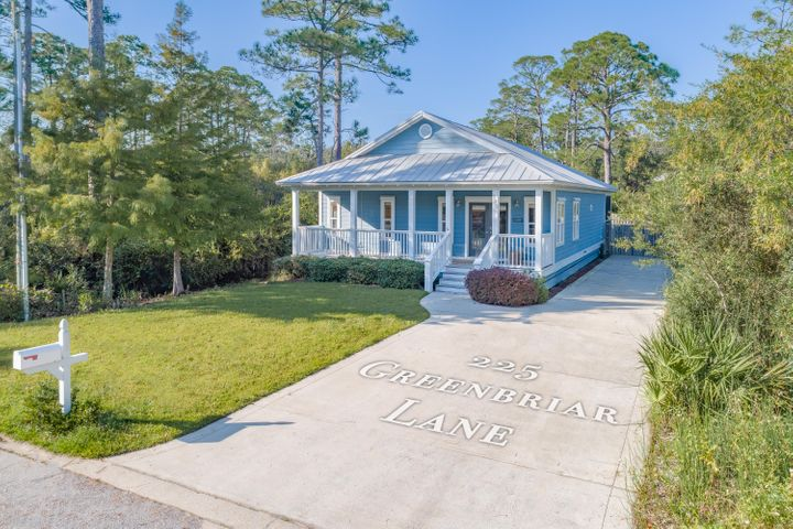 Great opportunity to own a home only a few miles to the world's most beautiful white sandy beaches while escaping the busy life of 30A! This well maintained home has a recently updated kitchen and bathrooms. Solid Oak flooring throughout the living, kitchen, and dining areas, plus the master bedroom. Additional bedrooms are carpeted. The neighborhood offers a boat ramp and county owned dock to access McQuage Bayou, which flows out to the bay for boating, paddle-boarding or kayaking. This home is a must see!