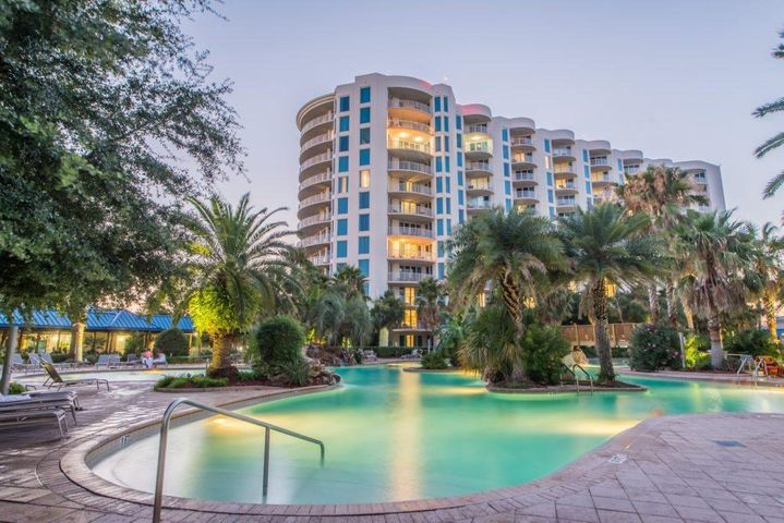 This is a full 2 Bedroom and 2 Bath, nice view of gulf and east, nice unit comes turn key, there's a lot to offer at the Palms, large lagoon pool, tennis courts, basket ball courts, play ground, nice work out facilities, spa, dining and more..