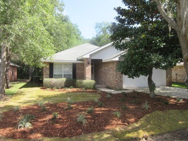 Wowie, what a beautifully renovated 3 bedroom, 2 bath REO home with an office in Bayou Landing! This gem features new gorgeous new granite countertops, new stainless steel appliances, fresh paint throughout,  new large water heater and many other great touches. The home sits on a peaceful wooded lot in a small cul-de-sac neighborhood that is close to Sacred Heart Hospital, Grand Boulevard and all it's shopping, restaurants and events. It close to the beach and bay and everything else the resort has to offer.