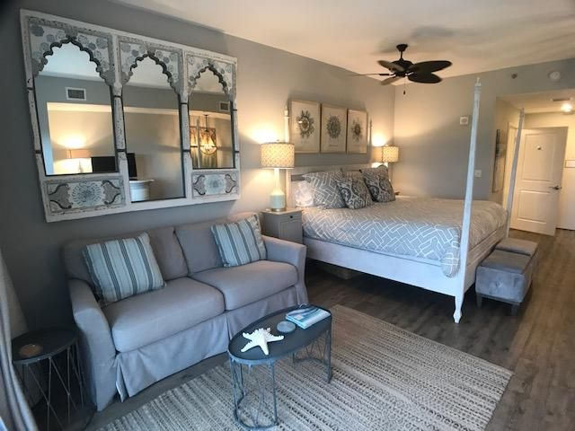This luxury studio condominium is located on the WEST SIDE of the building with views of the BEACH, POOL AND GOLF COURSE. It has one King bed with one Queen sleeper sofa for an extra guest if needed! THIS UNIT IS ON THE 9TH FLOOR IN THE CENTER OF THE BUILDING.  A VERY DESIARABLE LOCATION AND VIEW...!  CALL TODAY.