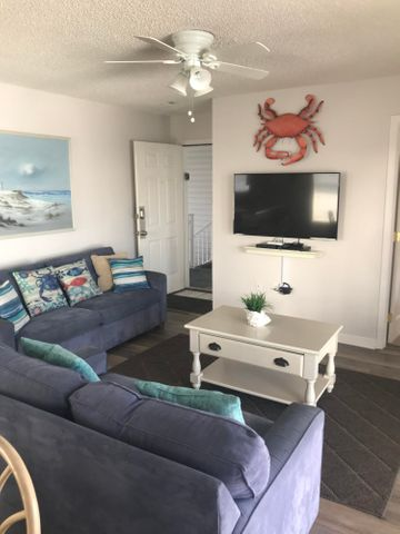Located in Seagrove Beach, Beachside Villas is one of the many hidden gems south of 30A on the beaches of South Walton. This condo is located near the beach access,  just steps away from the sugary, white sands of Seagrove Beach! The complex also boasts tennis and shuffle board courts and a clubhouse that is able to be reserved for group functions.