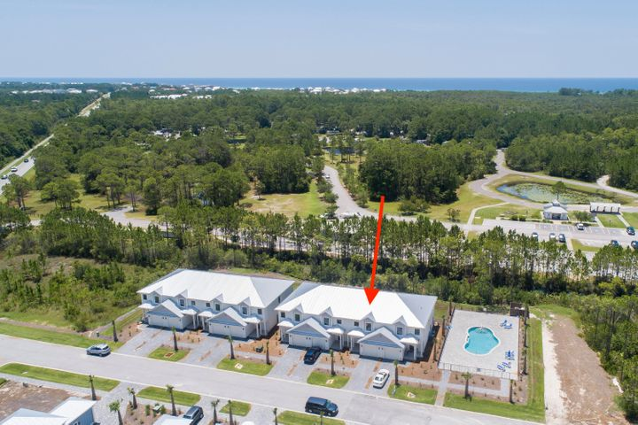 THE BEST BUY on the SOUTH SIDE of 30-A!  Brand new construction townhomes have three bedrooms, two and half baths. Stainless appliances, granite countertops and located next to Topsail State Park with three miles of sugar white beaches, nature trails and the emerald blue waters of the Gulf of Mexico. These townhomes have a community pool and no exit cul-de-sac.  Designer lighting throughout and street lighting and landscaping make this development perfect for permanent, vacation or rental property.  Very convenient to grocery stores, shopping, and popular restaurants.