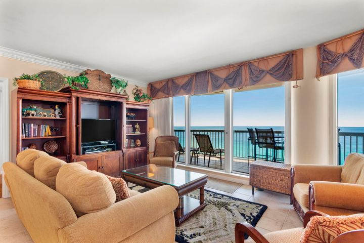 Impeccable gulf front condo with fabulous Gulf views.  Beautifully decorated with a Tommy Bahama Style creating a warm and inviting island beach get away.  This unit offers two spacious Gulf-front Bedrooms with private entrances onto the expansive balcony offering remarkable views of the beach and Gulf of Mexico.   Access through semi-private elevator  opens straight into the foyer of this open-concept living area with granite kitchen counter tops and tiled flooring..   Enjoy the onsite amenities of the ''Silver Shells Beach Resort'' including tennis, spa, exercise room, ''The Grille'' restaurant, gated community, and much more. Silver Shells St. Maarten unit 1207 is a rare find and a must see - call to schedule your viewing. Silver Shells of Destin is renowned for its spectacular spa, its grand pool decks, Ruth Chris' Steakhouse and best of all, the alluring white shores and emerald blue waters of the Gulf of Mexico.  Silver Shells Beach Resort and Spa - This location has it all!  This Gulf front condominium community is located in Destin Florida west of Henderson Beach State Park and features... A Seasonally Heated 7,500 Square Foot Lagoon Pool Private Beach Front Access With A Dune Boardwalk Gulf-Side Lagoon Pool  Indoor/Outdoor Pool Hot Tub Children's Pool  Outdoor Grilling Areas A Children's Playground A State Of The Art Fitness Center European-Style Spa  Multi-Purpose Club Room An Elegant Porte-Cochere Entrance A Mail And Package Receiving Desk An Elevated And Lushly Landscaped Multiple Tennis Courts, Basketball, Volleyball Courts And Shuffleboard 24 Hour Security Services Assigned Private Covered Parking With Storage Lockers Seasonal Beach Service On Site Sandbar Beachside Bar And Grille Ruth's Chris Steakhouse Close Proximity To Attractions, Shopping, And Dining