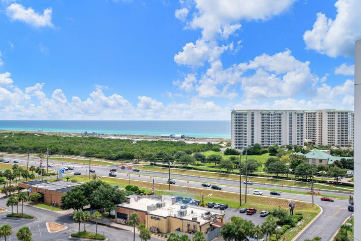 Rare opportunity to own a 12th floor penthouse at the prestigious Palms of Destin!  This 2bdrm/2bath unit features stunning unobstructed Gulf views over Henderson State Park. Rental projections of $31k+ per year, this gorgeous unit comes fully furnished and turn key ready! The owner spared no expense updating the unit to ensure it maximizes rental potential!  The kitchen boasts painted cabinets with hardware and beadboard around the breakfast counter! Living room features the following NEW items: 2 ceiling fans, recliner, sofa bed, 55'  flat screen tv, end tables with USB ports, canvas wrapped photos of Destin and much more. Trundle room offers new mattresses for both beds and new flat screen tv.  Master was upgraded with a 4'' foam memory topper & ceiling fan! Buyer to verify all info.