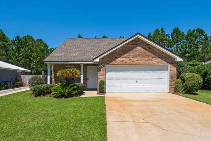 Location, location, location! Looking for a home on beautiful 30A? Look no further. This 2-story brick home offers 3 bedrooms, 2 1/2 bath, with master on main. Main level recently remodeled - new paint, new lifeproof flooring, stainless steel appliances and glass tile backsplash in kitchen. Very open concept floor plan, with vaulted ceiling in family room. Home also features 2 car garage. Plenty of room for entertaining. Fenced-in large, level backyard - perfect setting for a pool and privacy. Backyard backs up to 11 acre wooded nature preserve owned by Community HOA. Beaches are within walking distance. Conveniently located to shopping and lots of restaurants. Enjoy walking, jogging or bike riding by bike path the entire length of Scenic 30A.  Won't last long! Buyer to verify all data.