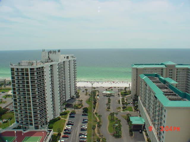 Great 1 bedroom/1.5 bath with outstanding views of the Gulf of Mexico. This one bedroom features tile through out living area, granite counter tops and stainless appliances. Enjoy the two large pools totaling approximately 12,000 square feet as well as convenient deeded access to over 2,000 feet of white sugar sand beach which is less than 200 yards away. Ariel Dunes is located in Seascape - a gated community offering amenities such as golf, tennis, pools, and a conference center. Great rental or second home! All measurements are approximate and should be verified by buyer.