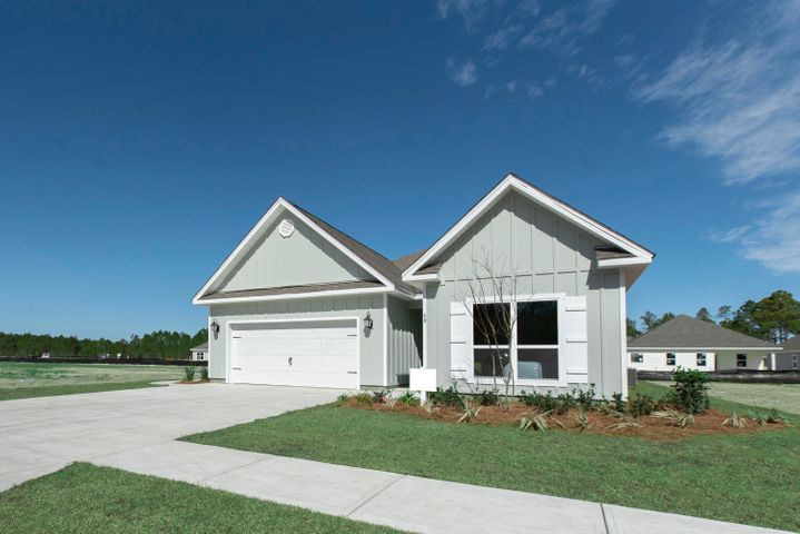Multi-Generational family home with separate 530 Sq. ft home within a home! Full kitchen, living room, laundry, bathroom, bedroom, HVAC and even a separate entrance from the ''Mother-in-Law suite''. Enjoy the main home with spacious kitchen with walk-in pantry, kitchen island and French doors lead to covered porch off main master suite. Light & bright colors adorn this one of a kind home where multiple family members can come together comfortably all under one roof. All homes are convey with our new ''Smart Home package'' including a skybell video door bell, Kwickset smartcode keypad, Eaton Z-wave switch, Qolsys IQ panel, Honeywell T6 Pro Z-Wave Thermostat, Kinetico water filtration and more! Don't miss this opportunity to secure this home at an amazing value so close to the beautiful beac Pictures, photographs, floor plans, elevations, features, colors and sizes are approximate for illustration purposes only and will vary from the homes as built. Home and community information including pricing, included features, terms, availability and amenities are subject to change and prior sale at any time without notice or obligation. For Move-In/Completion Estimates: Ready dates are estimates only. Timing of completion of construction and buyer move-in are subject to contingencies contained in home purchase agreement and governing jurisdictions issuance of a certificate of occupancy, and may change due to forces majeures and other delays or disruptions outside the reasonable control of D.R. Horton, Inc.