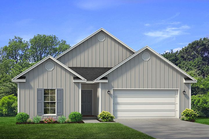 This Delray plan now available to secure in Stonegate! This home certainly has the WOW factor from the very moment you walk into the door. Bright and very open kitchen with fabulous island featuring bar seating & storage on both sides and large corner walk-in pantry. The Great room is open to the kitchen which makes this home PERFECT to entertain! The 23 ft covered back porch overlooks state woodlands for peaceful and private views. Master bedroom is extremely spacious and separate from the 3 guest bedrooms. Master Bath is complete with His and Her separate closets and a large tiled walk-in shower with bench seat and lengthy double vanity. LED lighting, NEW Smart Home package, Kinetico water filtration, solid surface counter tops, EVP flooring, all backed by builder and structural warranty Pictures, photographs, floor plans, elevations, features, colors and sizes are approximate for illustration purposes only and will vary from the homes as built. Home and community information including pricing, included features, terms, availability and amenities are subject to change and prior sale at any time without notice or obligation. For Move-In/Completion Estimates: Ready dates are estimates only. Timing of completion of construction and buyer move-in are subject to contingencies contained in home purchase agreement and governing jurisdictions issuance of a certificate of occupancy, and may change due to forces majeures and other delays or disruptions outside the reasonable control of D.R. Horton, Inc.