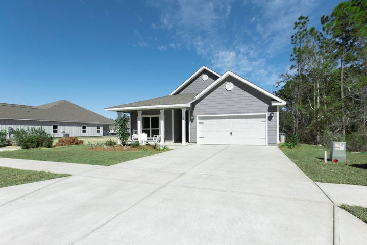 This Delray plan is now available to secure in Stonegate! This home certainly has the WOW factor from the  moment you walk into the door. Bright and very open kitchen with fabulous island featuring bar seating & storage on both sides and large corner walk-in pantry. The Great room is open to the kitchen which makes this home PERFECT to entertain! The 23 ft covered back porch overlooks state woodlands for peaceful and private views. Master bedroom is extremely spacious and separate from the 3 guest bedrooms. Master Bath is complete with His and Her separate closets and a large tiled walk-in shower with bench seat and lengthy double vanity. LED lighting, NEW Smart Home package, Kinetico water filtration, solid surface counter tops, EVP flooring, all backed by builder & structural warranties Pictures, photographs, floor plans, elevations, features, colors and sizes are approximate for illustration purposes only and will vary from the homes as built. Home and community information including pricing, included features, terms, availability and amenities are subject to change and prior sale at any time without notice or obligation. For Move-In/Completion Estimates: Ready dates are estimates only. Timing of completion of construction and buyer move-in are subject to contingencies contained in home purchase agreement and governing jurisdictions issuance of a certificate of occupancy, and may change due to forces majeures and other delays or disruptions outside the reasonable control of D.R. Horton, Inc.