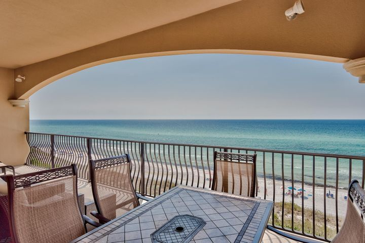 This exquisite 4 bedroom gulf front condominium has been recently professionally decorated! Interior features include gulf front balcony with room for all, 10 ft. ceilings with crown molding, flooring is travertine and premium vinyl in bedrooms, kitchen has granite, custom cabinetry, stainless steel appliances with built-in ice maker, gas cook top and electric oven, the master suite is gulf front with balcony access, double sinks, over sized master jet tub, separate shower, 3 additional bedrooms that accommodate sleeping for 8 and 2 full guest bathrooms, large laundry room plus an over sized owner's storage (some have turned this space into a bunk room).This condo comes with an assigned garage space and an owner's garage cage for beach toys, bikes and more. Currently a strong rental property with 2019 rental income with 49 days of owner usage is $107,521. Adagio is an exclusive, gated condo community in Blue Mountain Beach which occupies the highest elevation along the entire Gulf of Mexico. With 600 feet of gulf front this complex was designed to take advantage of the outdoor beauty. Amenities include a large 8,000 square feet of three pools that are linked by waterfalls, a fully equipped gym, meeting room, poolside and beach bathrooms.