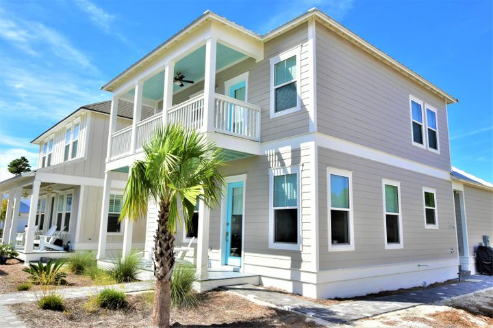 Walking distance to beach!  Immaculate home located in the community of Serenity at Dune Allen. You will love the many features of this home that include an open floor plan, all bedrooms ensuite, large closets, a beautiful gourmet kitchen, stainless appliances, gas cooktop, high impact windows, 10 ft ceiling, tankless water heater, shiplap accents, additional outside storage,  and a master bedroom on the first floor! This gorgeous Florida cottage also features a highly sought after single car garage, as well as a large rear deck perfect for grilling out!  Community pool and new public beach access across the street!Two large porches with private access to 2nd floor porch. A one owner home and has never been on a rental program.Smoke free. This home is a must see!