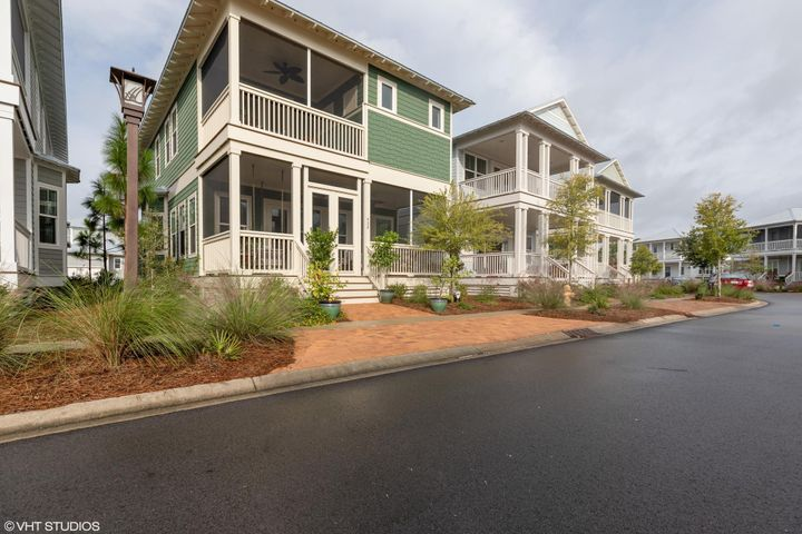 Property rented for next 18 months, rental assignable to new owner. Naturewalk at Seagrove in Santa Rosa Beach, FL. Beautiful, nearly new home in stunning Naturewalk. .  Only One Mile to the Beach and to Seaside. 4 Bedrooms, 3 1/2 Baths. Two Master Suites with 1st master on main level & 2nd master on upper level with screened porch. Hardwoods throughout, Tile in all bathrooms, Tin Roof, Shiplap, Upgraded Blinds, 10 foot ceilings down and 9 ft ceilings up, 1 Car Garage/Plenty of Parking & Pavers. Beautiful screened in front porch with double doors and ceiling fans. Entertainers dream with Open Floor Plan- Huge Great Room with lots of windows and Open Kitchen, Dining, Breakfast Nook and Upgraded Stainless Appliances. Quartz Countertops, Large Kitchen Island with Stainless Farmers Sink. Resort Living with Two Community Pools, Hot tub, Firepit,  Kids Pool, Ponds, Nature Trails, Basketball & Pickle Ball Courts. Irrigation, Security System, Maintenance Free Living.