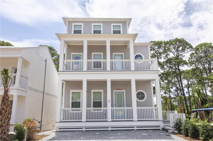 New construction located in beautiful Serenity At Dune Allen. Neighborhood entrance located directly across the street from the new public beach access on 30A! Community pool, fabulous floor plan on corner lot. 10ft ceilings, tile kitchen flooring, quartz counter tops, crown molding, gas cook top, High impact windows, sprayed foam attic, frameless shower, 8' interior doors, and many other outstanding features. Great opportunity to own a home on 30A! Come by today to see this and many other opportunities available at Serenity at Dune Allen. All interior photos may be of similar, but not necessarily subject property, including colors and finishes.