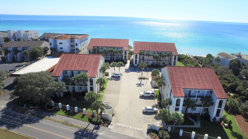 Great location! Just a short ride to Seaside, this 1 bedroom, 2 bath condo with bunk area offers an unobstructed view of the Gulf, community pool and a history of strong rental income.