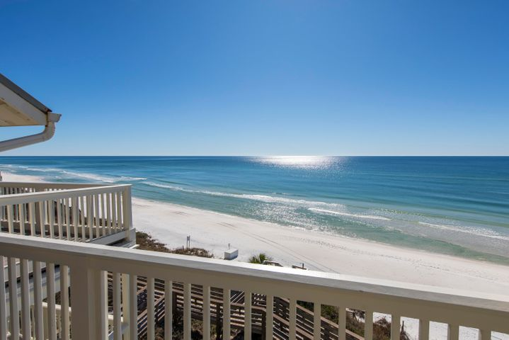 Here is your opportunity to purchase a Gulf Front, top floor condo being offered fully furnished and rental ready! Great location and the best priced 2BR gulf front condo along 30A! There is plenty of sleeping space with built in bunks in addition to the two full bedrooms. Enjoy the quiet setting of Mistral with just a short bike ride away to Kaiya, Alys Beach and Rosemary Beach which offers shopping, dining  and entertainment.