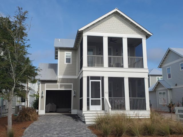 Located approximately 1 mile from award winning Grayton Beach, this Dogwood floor plan features open concept living and dining, three spacious bedrooms each with en suite bathrooms.  The chef's kitchen offers 42' wood shaker style cabinets with soft close doors and drawers, quartz countertops in kitchen, tile backsplash and stainless-steel appliances.  Superior construction includes, Jeld-Wen hurricane impact doors and windows, high speed structure wiring network, Taexx Pest Control, and Galvalume metal roofing.  Enjoy outdoor living with 2 screened porches and only steps away from the fabulous zero entry community swimming pool with waterfall feature.  Enjoy the Grayton community with shops, restaurants, and 2 state parks.  Call to view today!  Buyer to verify all information