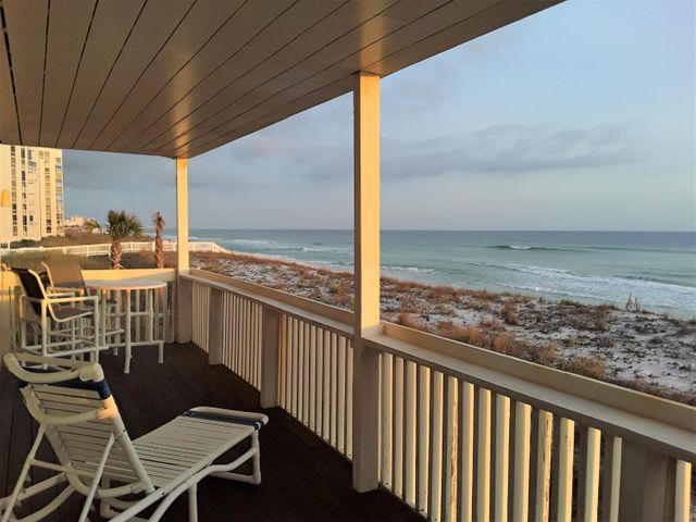 This Sandpiper Cove Condo is directly on the beach