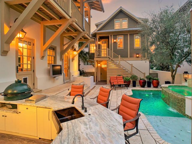 Not only is this home gorgeous, it has a backyard oasis that you'll never want to leave.