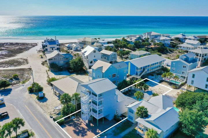 ''Seas the Day'' offers one of the best locations in Grayton Beach with stunning forever views of the Gulf of Mexico.  Boasting seven bedrooms, seven and a half bathrooms and seven parking spaces just steps to the beach, this home is primely positioned as a great rental investment. Tall windows bring abundant natural daylight into the open space living, dining and kitchen. Stainless steel appliances, crisp white cabinets and trim and a welcoming breakfast bar lend a light airy feel to this open kitchen. Tile floors spell easy maintenance, and soft neutrals creating a soothing environment.Multiple decks with Gulf of Mexico views invite outdoor living, entertaining and relaxation. The private, heated pool has a generously-sized paver poolside deck space, open and covered with opportunities to expand beyond the fence line on the west side of the property. The recently painted exterior offers a fresh first impression. The four floors of living space offer an investment for decades of family vacations, corporate retreats and a lucrative rental revenue stream.  Grayton Beach provides laid-back living by the beach in close proximity to local favorites like Chiringo and the new and improved Red Bar opening in the summer of 2020.