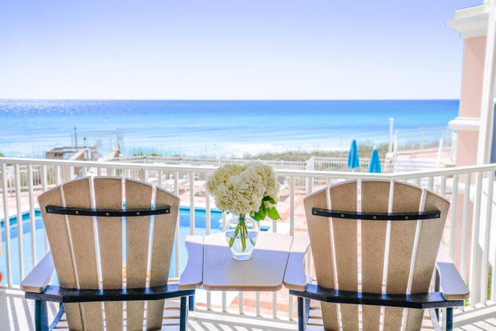 This immaculate second floor gulf front condo has spectacular views of the gulf and located in 30A's best kept secret  The Inn at Blue Mountain Beach. Open floor plan with large gulf front balcony is accessible from the living area and large master suit. Total of 3 bedrooms plus Den that sleeps 2. All 3 bedrooms have their own bathroom. Condo has been updated and rental ready. The Inn offers a gulf front pool and large gym with newly updated atrium for owners and their guests. If you are looking for your private retreat - Look no further  this is your place. The perfect place for a primary home, second home or investment property. The Inn at Blue Mountain owns a parcel of property for overflow parking. Located just outside of the entry into the parking garage, the lot is for additional owners' cars or guests cars.   List of condo upgrades:  hurricane rated windows and sliding glass doors, new cabinets, counter tops, back splash, appliances, flooring, A/C, water heater.     The Inn at Blue Mountain Beach is one of the best kept secrets along 30A featuring a pool, a hot tub a fitness center, two meeting/conference rooms, wireless internet.  This is a private gated retreat with deeded beach front. This gated building offers under building parking, separate storage in garage, security cameras and a building wide fire/smoke detectors and sprinkler system. The entire interior of Inn at Blue Mountain Beach underwent a major renovation. This property is perfectly located in the heart of Blue Mountain Beach near boutique shopping, world class dining, vast array of outdoor recreational activities and local entertainment.  The moment you walk into the newly remodeled lobby at the Inn at Blue Mountain Beach you will know this is your beach retreat.