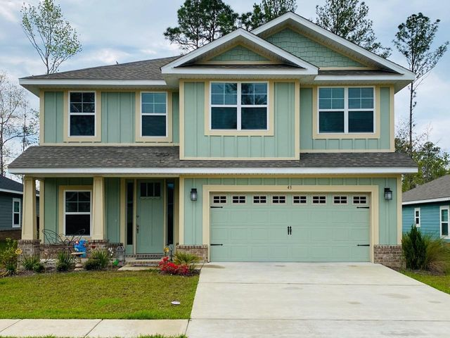 Charming two-story home in the new community of Lafayette Creek Landing. Conveniently located within 15 minutes of the beautiful beaches of South Walton on 30A and in close proximity to shopping/restaurants in Freeport, this home is on one of the best exterior lots with a large, fenced yard. This home features 4 bedrooms, 3 full bathrooms, 2162 sq ft, 2 separate living areas, large kitchen with white cabinets, granite countertops in kitchen and bathrooms, stainless steel appliances, luxury vinyl plank Core-Tec waterproof flooring, and a 2 car garage. A spacious master bedroom adjoining a master bathroom with garden tub, separate shower, and large walk-in closet. Included in the HOA Fees is a new clubhouse, pool, and exercise room. This home will not last long! Don't miss out!