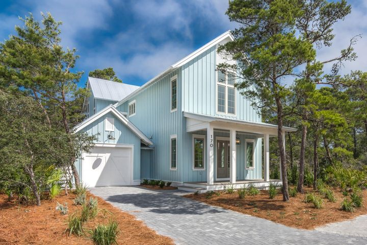 Wow!  Meticulous attention to detail has been given to every aspect of this 4 bedroom, 4.5 bathroom home in The Preserve at Grayton Beach.  Designed by Julie Smith and built by Chase Green, this residence is truly one of a kind.  An ideal floor plan creates a relaxed flow, while large windows and doors provide and abundance of light.  On the first level, the great room opens to a well-appointed kitchen, complete with quartz countertops, soft close drawers/doors, and GE CAFE Series appliances.  Also on the first level is spacious bedroom with bathroom, laundry room, and half bathroom.  The second level offers a sizeable master with two walk-in closets and a gorgeous master bathroom, a large bonus area, and two guest suites... each with its own bathroom.  Additional features include; European White Oak floors, enhanced lighting and light fixtures, a rear screened in porch with AZEK Vintage Collection decking, a Rinnai Sensei tankless water heater, and American Standard HVAC systems with Envirowise Ventilating Dehumidifier and wifi capable touchscreen.  The Preserve at Grayton Beach is a gated community with deeded beach access, two pools, tennis courts, clubhouse, and fitness center. Come enjoy 30A and The Beaches of South Walton!