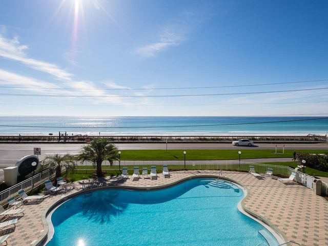 AMAZING GULF VIEWS !! Maravilla Condo Overlooking Gulf & Pool In Building 2. Large Balcony To Enjoy The Gulf Breezes With Excellent Coastal Views Of The Gulf Waters. One Of The Best Views In Maravilla. Unit Is Part Of 33 Acre Development With 500 Ft Of Private Beach & Multiple Amenities. 2 Swimming Pools (1 Below Condo) & 2nd Pool Next To Community Center w/ Work Out Room. Tennis Courts, Basket Ball Court, Lots Of Green Spaces To Walk, & That Beautiful White Sand Beach! Maravilla Is Security Gated With Entrances On Scenic Gulf Dr On The Gulf Side & Hwy 98 To The North. This Unit Is An Excellent Vacation Rental Or Could Be A 2nd Home. Beautifully Furnished w/ Nice Upgraded Cabinets & Counters! Flooring Is Tile & Wood. Go See This Condo Now. Call Before It Is Too Late!!