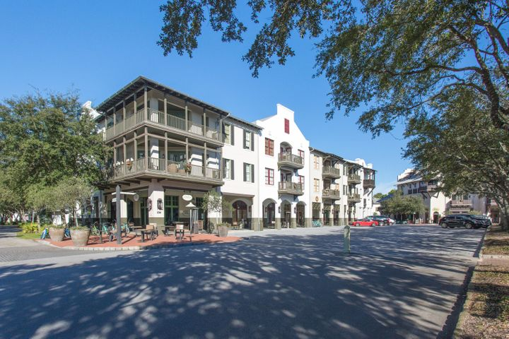 This is a unique opportunity to own a professionally decorated and managed penthouse right in the center of Rosemary Beach. Thoughtfully designed with an open floor plan and 16 foot vaulted ceilings, natural light flows throughout this home. The penthouse includes several elegant touches with its tile and wood floors, granite countertops, wood cabinets, and top of the line furnishings and decor. Additional features include a laundry room with a full washer and dryer as well as a galley kitchen with stainless steel appliances and plenty of storage. Easily accessible by elevator and offering three bedrooms and three bathrooms, this is an exclusive chance to live or invest in a planned community property with a proven rental history - grossing $73,600 in 2019. See more... Step onto the balcony and enjoy a view of Barrett Square, or take advantage of the many amenities this home offers, including five swimming pools, a fitness center, and nearby parks and a playground. This property provides deeded beach access, and the shoreline is only a five minute walk from the home. Enjoy several nearby community events throughout the year, including band performances, movies, festivals, and a weekly farmer's market. With well-known 30A dining and entertainment options just outside the door, this home presents a rare opportunity to live in the heart of one of the most coveted communities on the Emerald Coast.