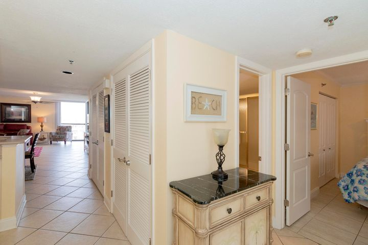 Don't miss out on this wonderful 3BR/3BA, 1,462 Sq. Ft., fully furnished Mainsail condo. Just steps to the beach this gem features tile floors & crown molding throughout. The kitchen features solid surface countertops, stainless sink, and white appliances. Take in the magnificent views of the Gulf of Mexico from the balcony which is accessible from living room or the master bedroom! Mainsail's amenities include community pool, tennis courts, basketball, 24hr security, 700Ft of deeded beach & More. Perfect for a vacation home or main home this tastefully decorated condo is close to shopping, dining, and entertainment! Come See what Mainsail has to offer.