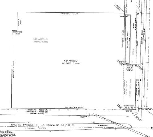 3.5 acre outparcel, corner vacant commercial lot in Navarre at the corner of Navarre Pkwy and Serosa, great development parcel, owner is licensed realtor