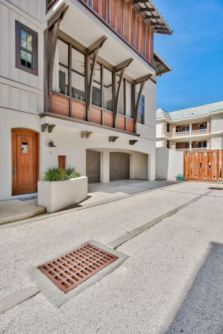 Nestled between Rosemary Beach and Seacrest Beach you will find a private community within a gated courtyard and just steps to the shops and restaurants of Rosemary Beach. This 3 level, 2,150 sq. foot condo sits atop an oversized 2 car garage with additional storage space for all of your beach gear and bikes. Located in the garage you will find a dumbwaiter which reaches all 3 levels in the home. On the 2nd floor you will find high ceilings and an open floor plan living area with french doors that open out to a balcony and a spacious kitchen complete with a Sub-Zero refrigerator and Wolf appliances. All 3 bedrooms are located on the 3rd floor each with an ensuite bathroom. Enjoy the quiet oasis of A La Paix.
