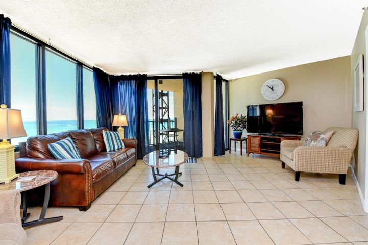 Highly desirable ''A'' floor plan -- largest at the Sunbird - this beautiful 6th floor condo is ready for you to enjoy... Breathtaking Million Dollar views from the comfort of this adorable 1 bedroom 1 bathroom condo. The complex is located on the east end of Panama City Beach, within walking distance to great restaurants, shopping and nightlife. The sixth-floor location is perfect for a bird's eye view and convenient enough to be on the glistening sugar white sands or poolside in minutes. Offered fully furnished. Sunbird offers 3 pools (one heated), grills, tennis courts, laundry facility on main floor, great beach access. Since Hurricane Michael, the Insurance company has settled and we now have new roofs, New effis, new windows, new sliders, new fencing, new elevators on West side. Balcony railings are currently under repairs. COA also added New generators, resurfacing pools, new decking around pools, new exterior paint on complex.Come see this beautiful condo today! All information is believed to be correct but should be verified by the Buyer.