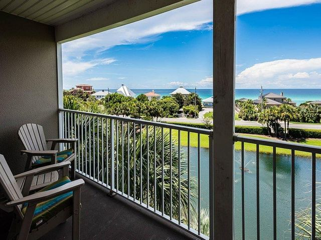 WHAT A VIEW on the west end of the Scenic 30A corridor. Come escape to the beach in this TOP-FLOOR condo in Gulf Place. This fully furnished 2 bedroom, 2 bath vacation home boasts beautiful East-to-West views of the Gulf of Mexico from your large private balcony. It's in a perfect location, as you're just steps from great restaurants, shoppes, salons, music venues and the beach! Gulf Place has three private deeded beach access spots and 3 private pools, hottubs, tennis courts and is located on the western end of Scenic 30A.  Being sold furnished with few exceptions. Owner pets allowed.  Two king beds with new mattresses.  Brand new Plantation Shutters on windows and balcony doors.  New fixtures and counter tops.  Brand new Water Heater 9/2020. Interior Photos to follow.