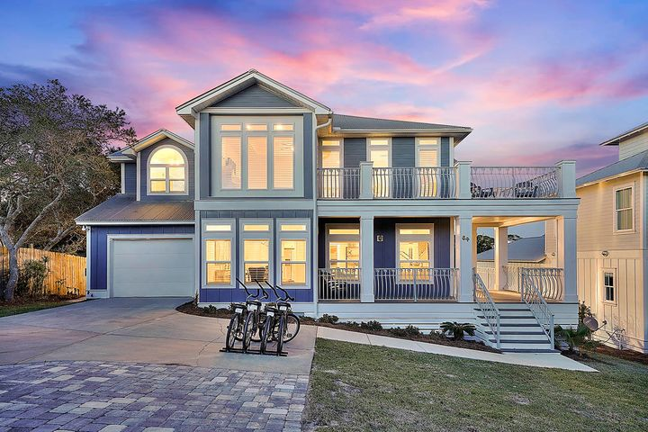 Stunning Gulf Views and just a short walk to the beach you'll find this beautiful home nestled in the heart of Dune Allen Beach!   Upon entering the home, you'll immediately notice all the beautiful decor, high-end furniture, vaulted ceilings, and gorgeous hardwood floors throughout this recently remodeled home. The first floor has a spacious open floor plan complete with a living room, kitchen, and formal dining area.  The kitchen features granite countertops, stainless steel appliances, and subway tile.  The first floor also features two bedrooms, both of which have two twin/twin bunk beds.  Upstairs, you'll find two guest bedrooms, one full bath and the master. The master bedroom features a large ensuite bathroom with a walk-in shower, freestanding bathtub, dual sink vanity, and a private water closet.  It also has access to the second-floor balcony where you'll find breathtaking views of the Gulf of Mexico.  Now the backyard!!  The charming front porch will lead you out to the large backyard featuring a BBQ area and a brand new private pool. The luxurious private pool features a tanning shelf and sunk-in bench seating. In addition, the backyard is also equipped with plenty of deck chairs and an al-fresco dining area.  Just a short walk away from the beach and with stunning gulf views, this home is the little slice of paradise you've been looking for. Additionally, with chic decor, beautiful hardwood floors, sleek appliances, and a luxurious private pool, this home has everything you could possibly need!  Call to schedule your showing today!