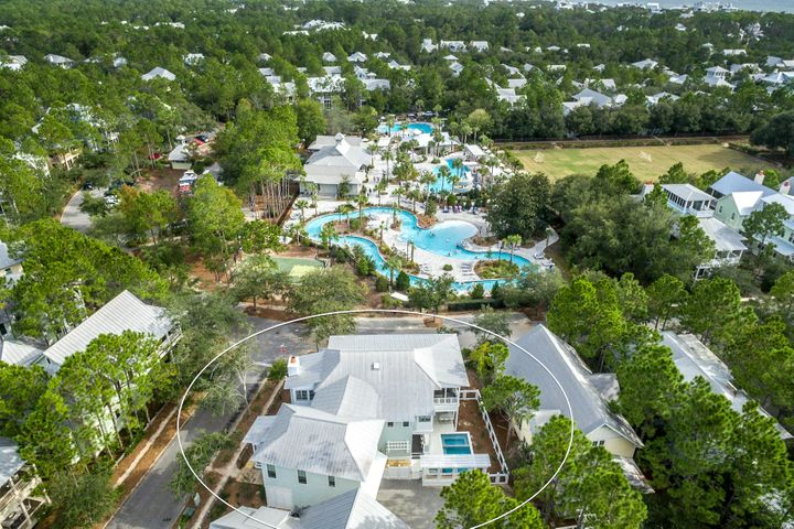 270 Spartina is located directly across from Camp Watercolor, including 3 pools and a lazy river.