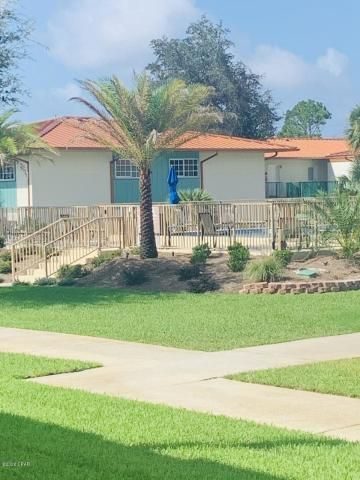 Excellent opportunity to own a fantastic ground floor unit at Landmark Condos! There is so much to love about this complex, including a gorgeous private beach, two pristine pools, dock, additional storage and exceptionally landscaped grounds! New roof installed in 2018! Brand new A/C in 2019! HOA's also cover many of the living expenses including, water, sewer, trash and cable. Centrally located to Panama City Beach and downtown Panama City. Would make a great primary, secondary or investment property. This is a must see! Facetime showings available. Call today!